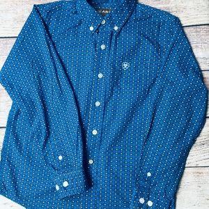 Ariat Boys sz S (8) button down western shirt